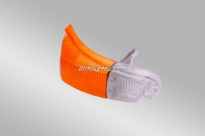 Blinkerglas AZ 62-70 rechts / orange-weiß