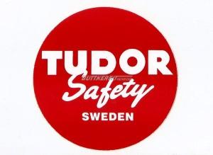Aufkleber Batterie Tudor Safety