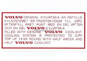 Aufkleber Frostschutz B20 / B30