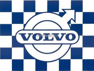 Aufkleber kariert blau Volvo