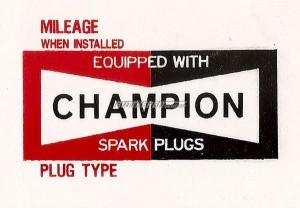 Aufkleber Champion- Zündkerzen