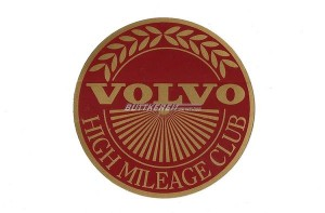 Aufkleber Volvo high mileage club