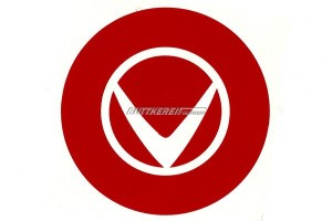Aufkleber Radkappe Volvo-Logo rot