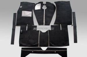 Teppichsatz AZ/220 Velour schwarz 65-70