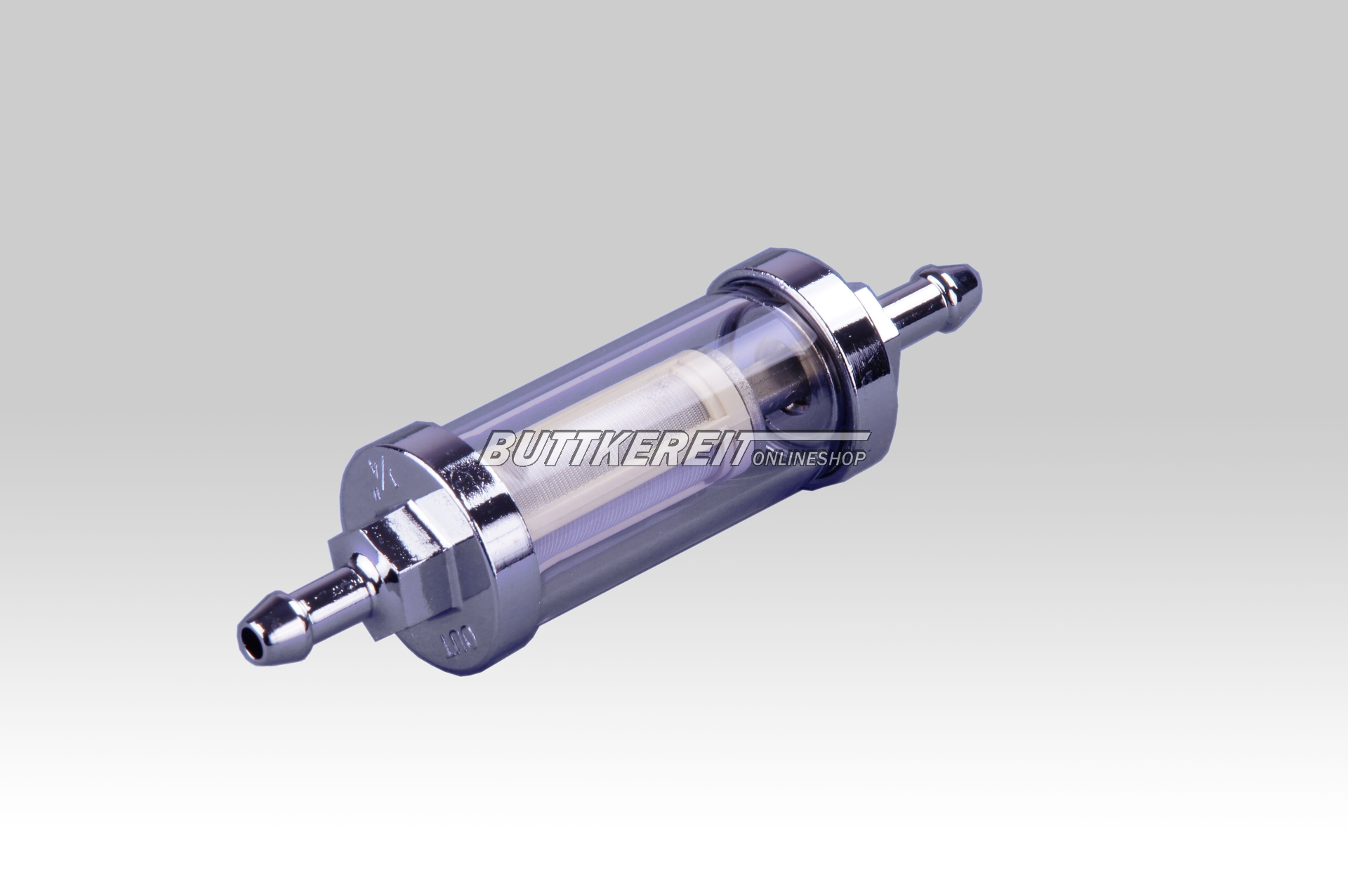 Benzinfilter Chrom 6mm