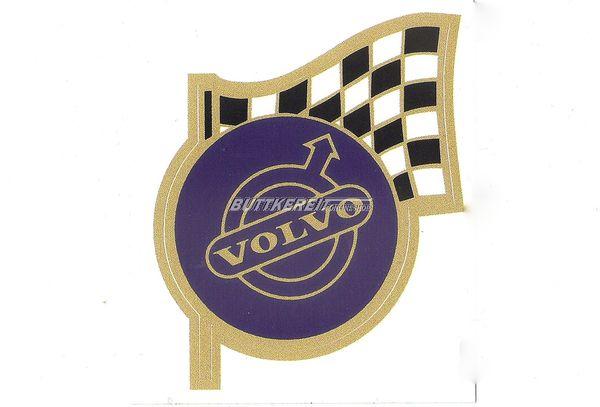 Aufkleber Volvo blau mit Flagge