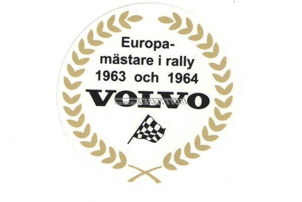 Aufkleber Rally Champion schwedisch