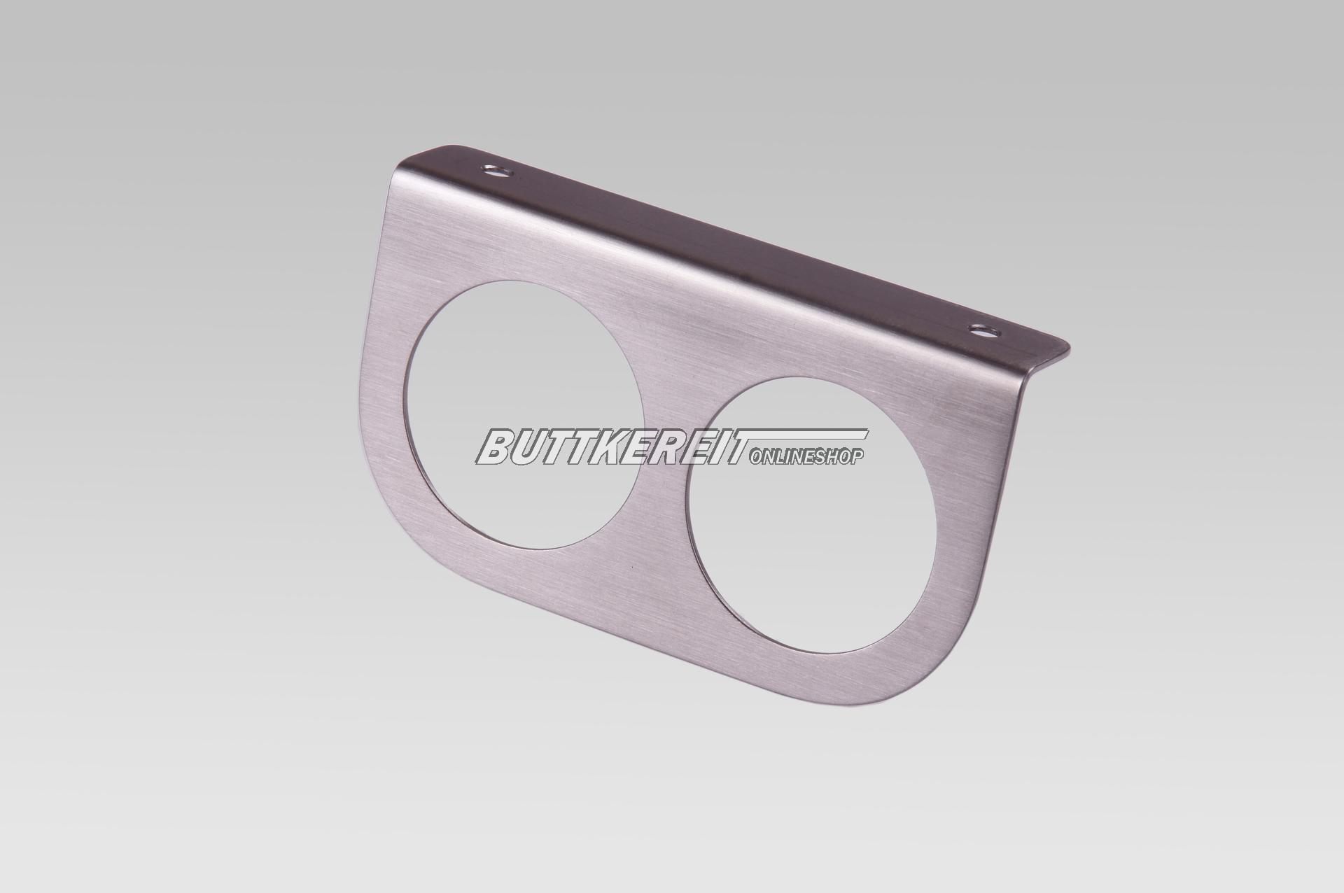 Anbauhalter 2-fach  Edelstahl 52mm
