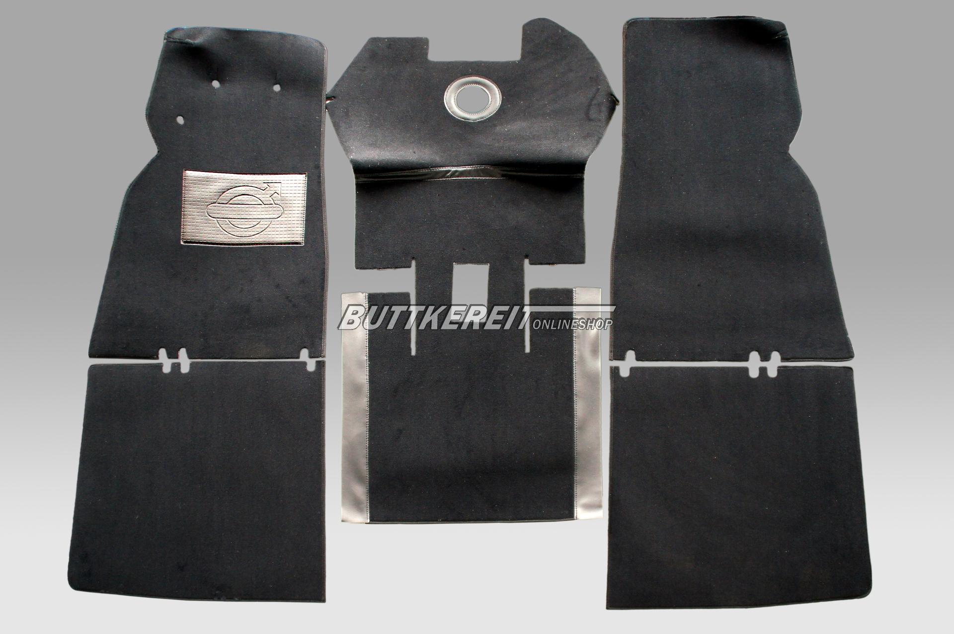 Teppichsatz PV 544 Velour schwarz
